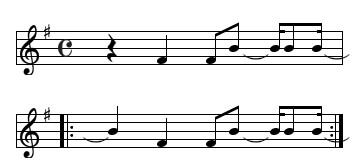 キジバトの鳴き声譜面